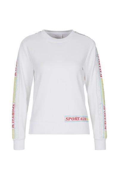Sweater mit Kipppailetten-Streifen