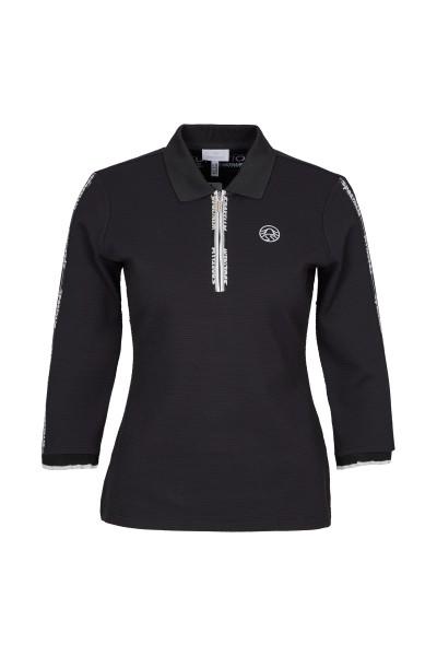 Polo Shirt aus Waffle Jersey