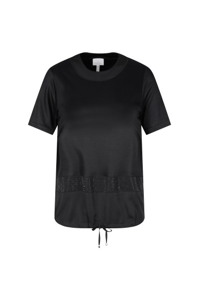 Elegant shirt with rhinestone detail