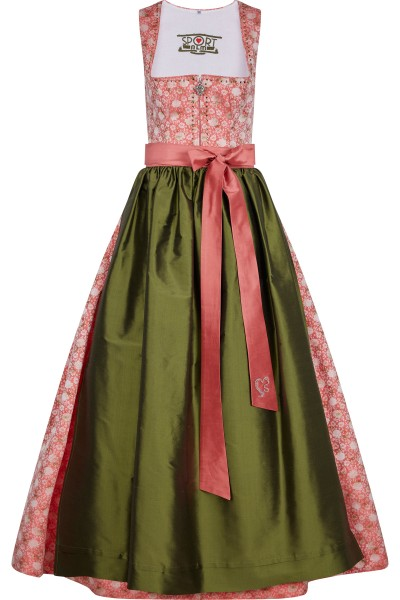 Dirndl made of printed polyester jacquard