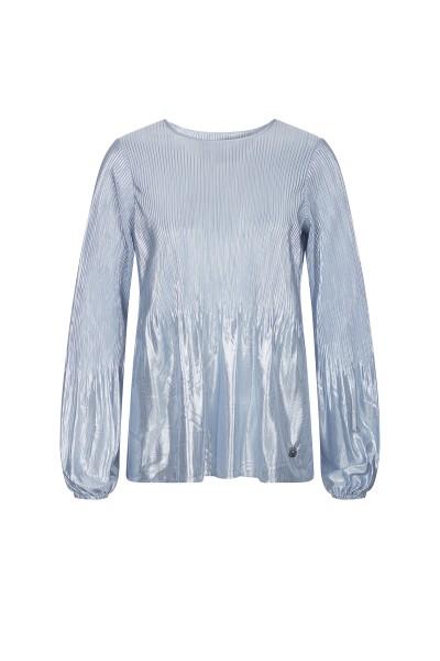 Bluse aus Metallic-Plissee-Qualität