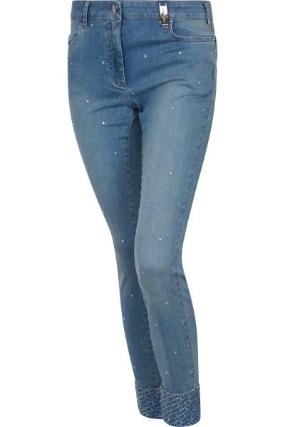 Jeans mit Allover-Hotfix-Steinchen