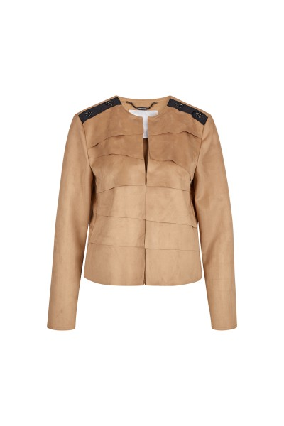 Jacket in imitation suede