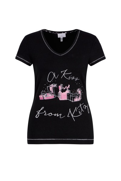Shirt mit festlichem Print
