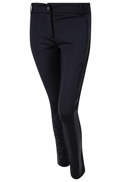 Tonal golf pants with metallic mesh print