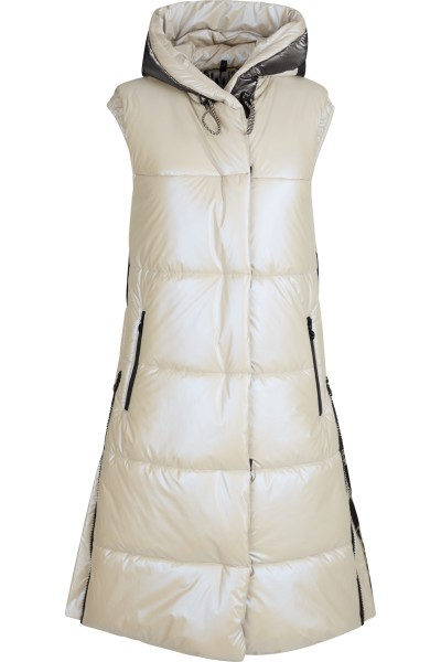 Padded vest with SPORTALM logo filling chambers and two-way zip