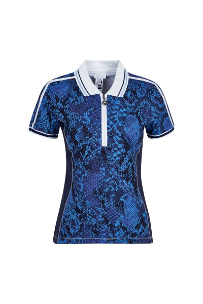 Sporty, feminine shirt with polo collar