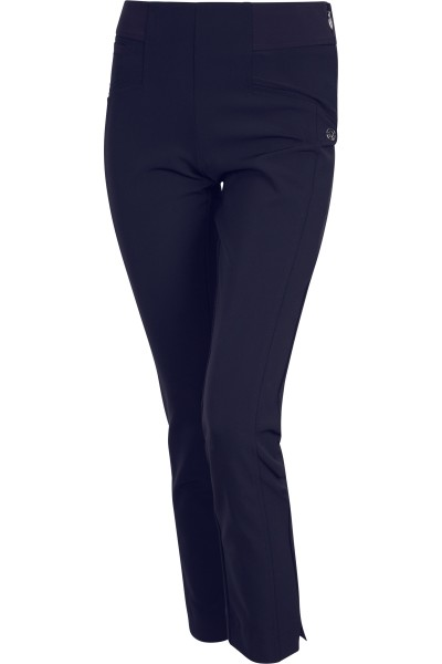 Figure-hugging trousers with fine stitching