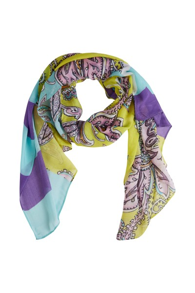 Scarf in an all-over collection print