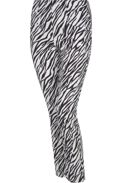 Golfhose im All-Over Zebraprint