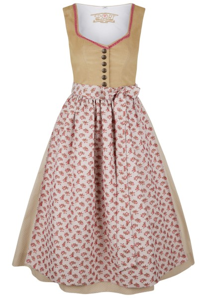 Classic dirndl with delicate roses