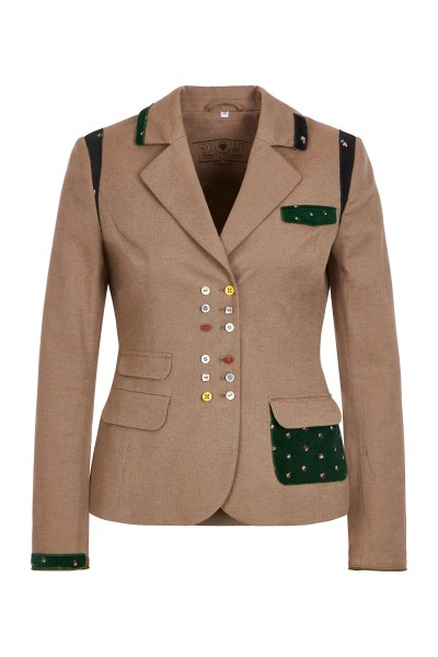 Traditional jacket with colorful buttons