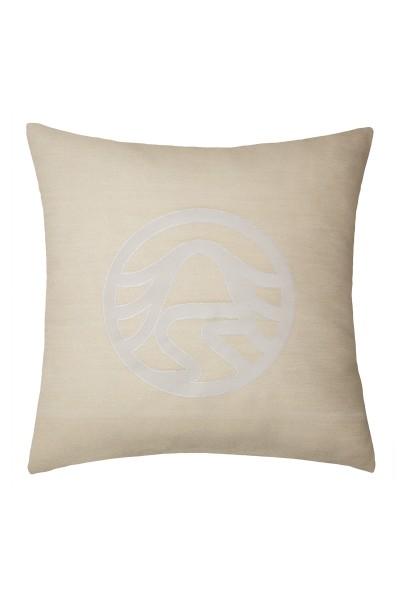 Decorative cushion cover with Sportalm logo