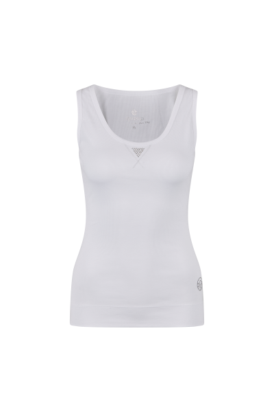 Figure-hugging tank top in ribbed structure
