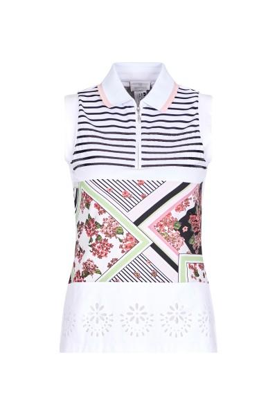Shirt im Blumenprint und Streifenoptik