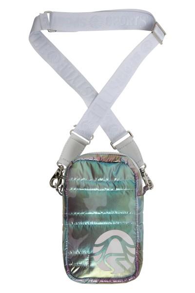 Mobile phone case in metallic nylon look