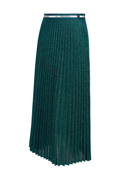 Pleated skirt made of lurex material