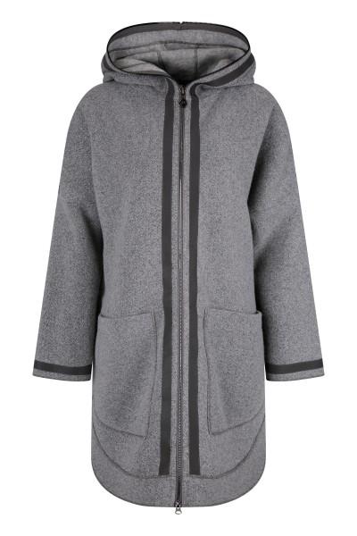 Ungefütterter, oversized Mantel mit modischer Silhouette und Kapuze