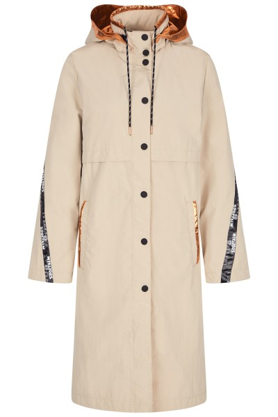 Mantel in A-Linie mit Kapuze