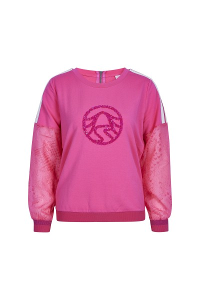 Femininer Sweater mit edlem Paillettendetail