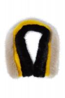 Schal in Fake-Fur