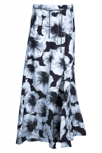 Maxi skirt in a floral print