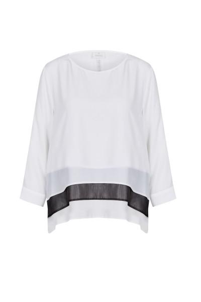 Bluse im modischen Mehrlagen-Look