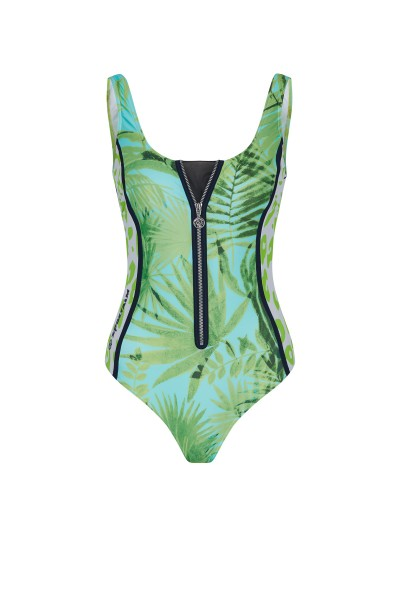 Swimsuit in All Over Palm Print