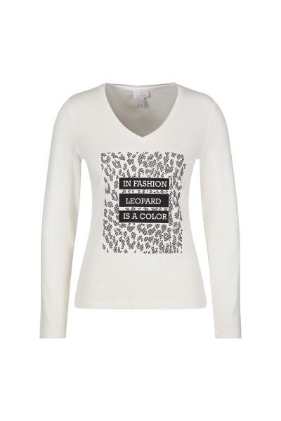Langarm-Shirt mit Leo-Detail