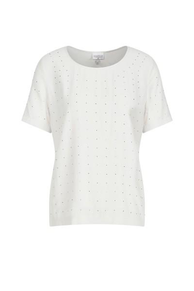 Shirt im Allover-Strasssteinlook