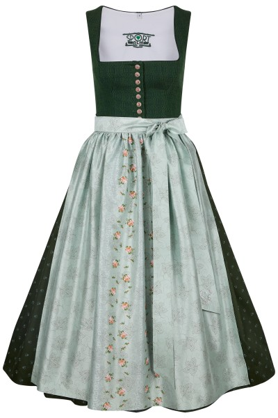 Simple dirndl with button closure and decorative pattern