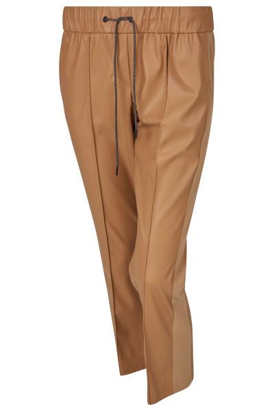 Modische Lederjogger in sieben Achtel Länge mit geradem Bein