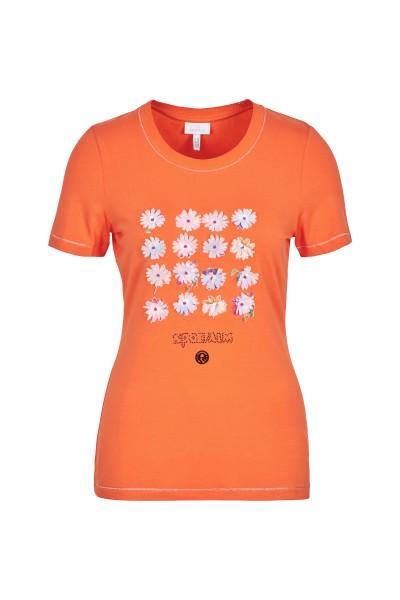 Shirt mit farbigen Blütendruck