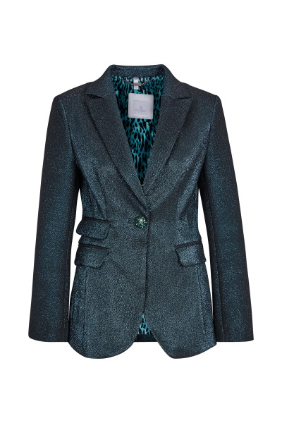 Fitted blazer made of lurex quality