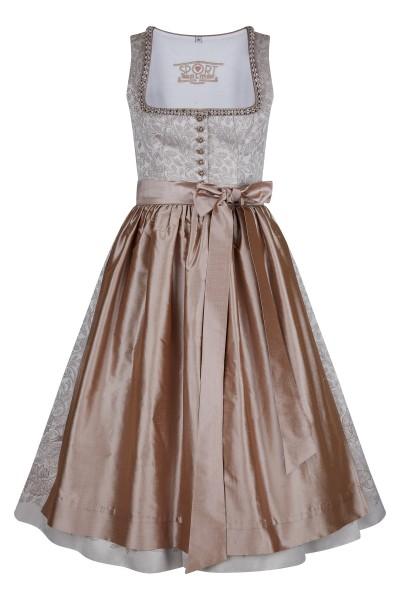 Bridal dirndl in jacquard design and noble silk