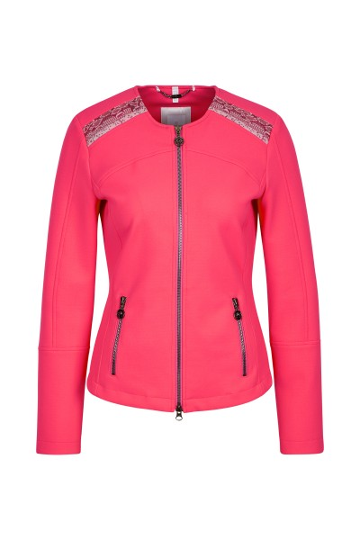 Fitted jacket with sequin detail