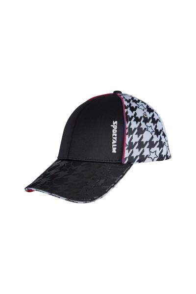 Sportliche Cap mit aufregenden Prints und metallic Details