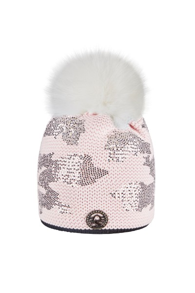 Cap in allover camouflage print