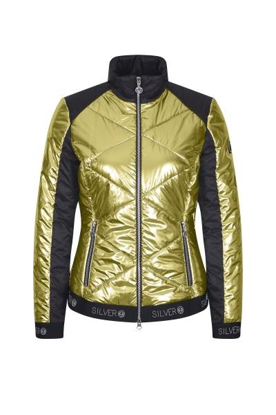 Jacket in metallic nylon quality