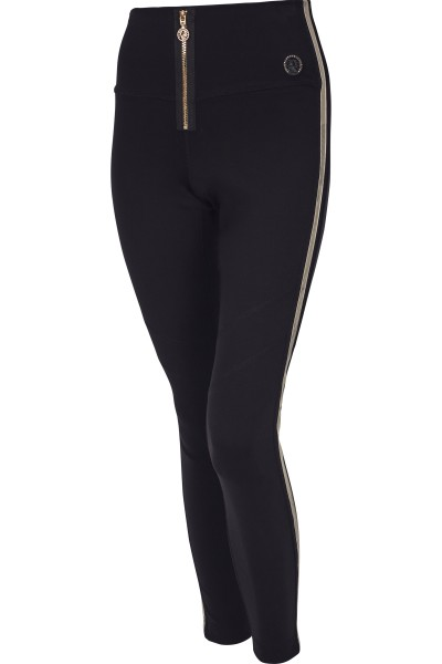 Leggings with fine decorative stitching in contrast