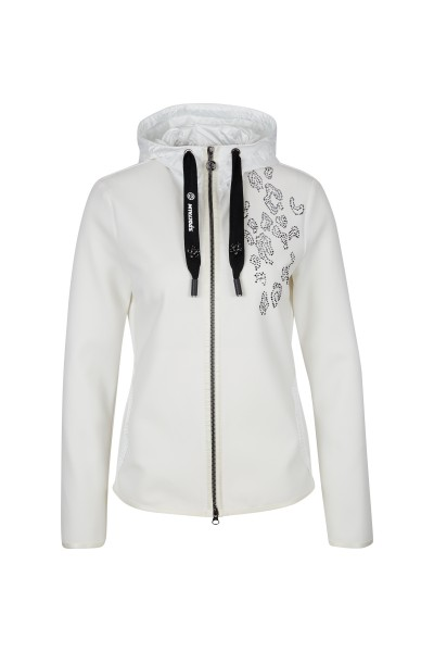 Sporty-feminine sweat jacket