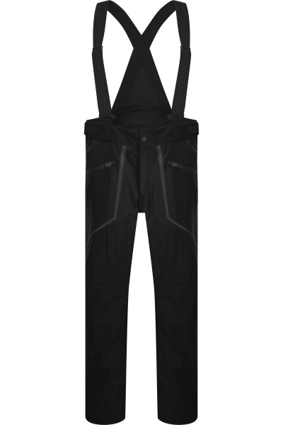 Sporty ski pants with suspenders