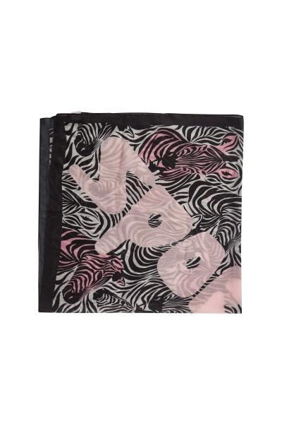 Quadratisches Tuch im All-Over-Zebra-Druck