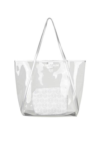 Transparente Tasche mit Kosmetiktasche