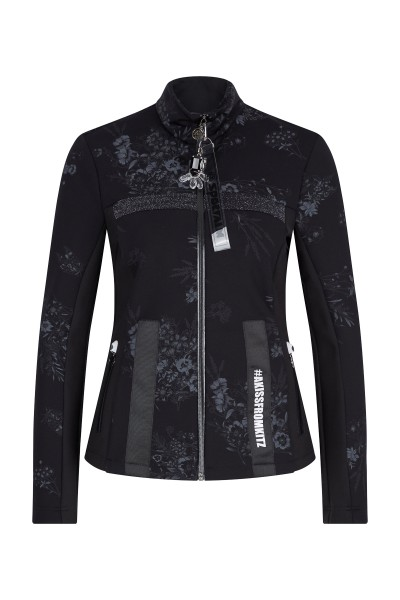Jacket with floral print