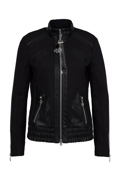 Modische Jacke im Materialmix