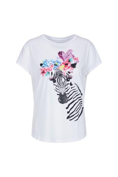 T-Shirt mit süßem Zebra-Druck