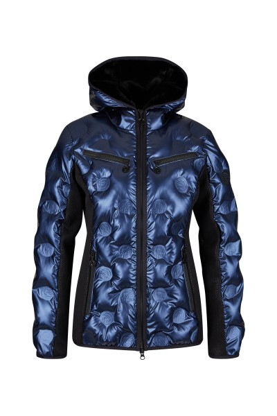 Padded ski jacket with SPORTALM logo embossed filling chambers