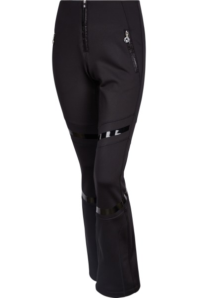 Softshell ski pants with nylon inserts