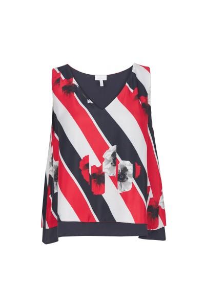 Blouse in all-over stripe design